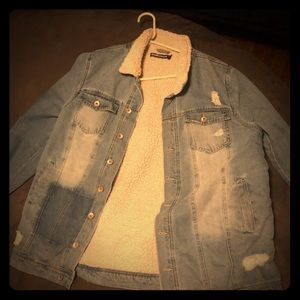 Oversized soft inside jean jacket